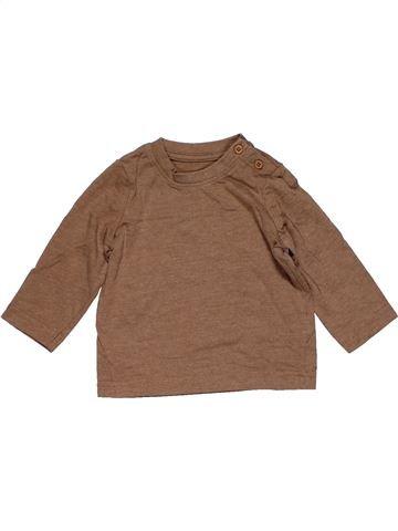 Long sleeve T-shirt boy NO BRAND brown 6 months summer #28689_1