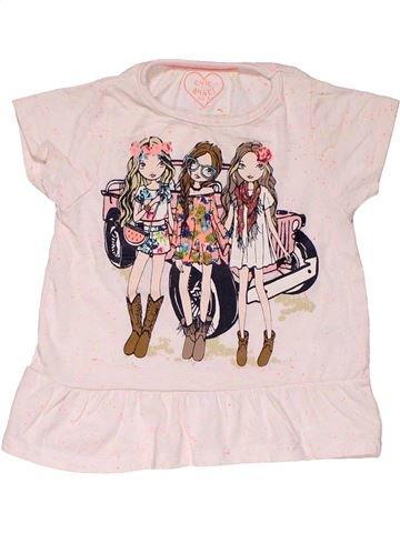 Short sleeve blouse girl E-VIE ANGEL pink 3 years summer #28822_1