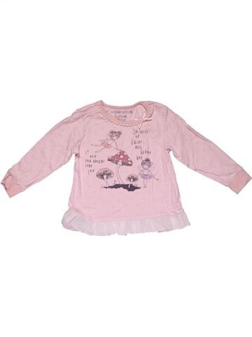 Long sleeve blouse girl MADE WITH LOVE pink 2 years winter #28833_1
