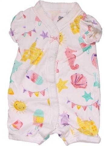 Short jumpsuit girl BLUEZOO white new born summer #28905_1