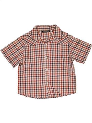 Short sleeve shirt boy GEORGE brown 6 years summer #28977_1