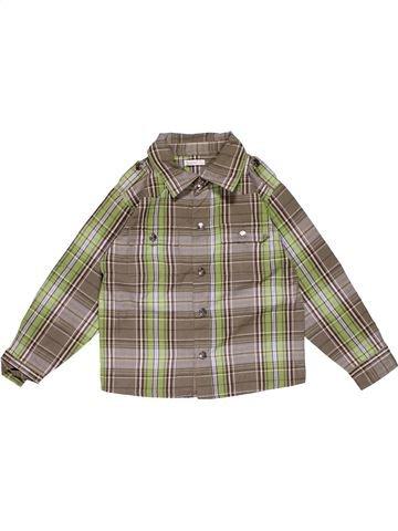Long sleeve shirt boy MILOU brown 4 years winter #29059_1
