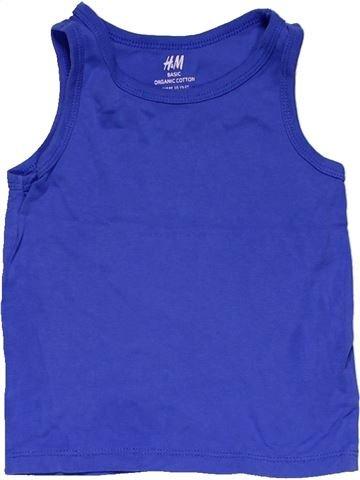 Sleeveless T-shirt boy H&M blue 2 years summer #29387_1