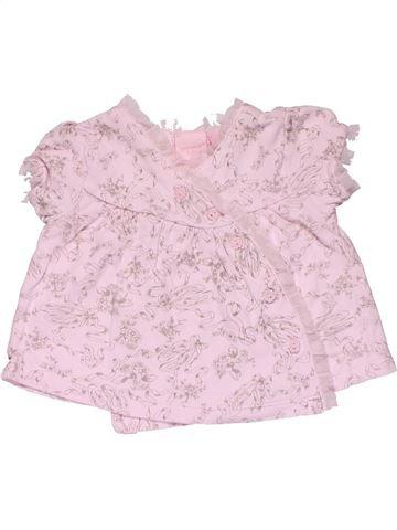 Short sleeve blouse girl SAVANNAH pink 9 months summer #29557_1
