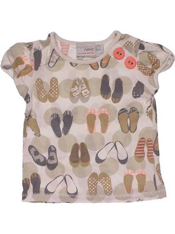Short sleeve T-shirt girl NEXT beige 6 months summer #29801_1