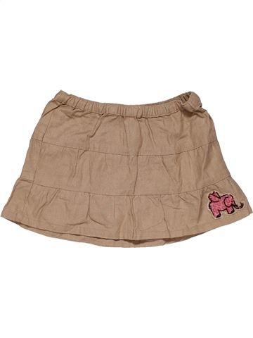 Skirt girl EAGER BEAVER brown 4 years summer #30315_1