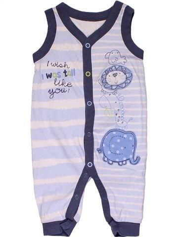 Short jumpsuit boy GEORGE gray 6 months summer #30370_1