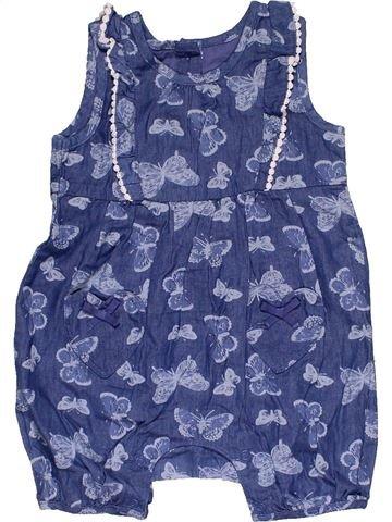Short jumpsuit girl MATALAN blue 6 months summer #30436_1