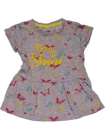 Dress girl NO BRAND gray 12 months summer #31129_1