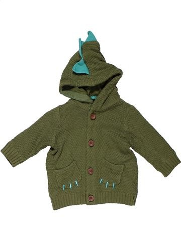 Sweatshirt boy MARKS & SPENCER green 6 months winter #31159_1