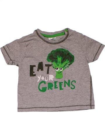 Short sleeve T-shirt unisex F&F gray 12 months summer #31425_1