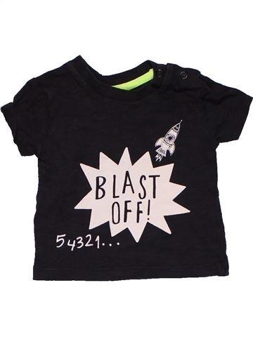 Short sleeve T-shirt boy F&F black 3 months summer #31576_1