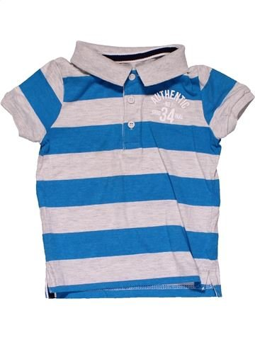 Short sleeve polo shirt boy AUTHENTIC white 2 years summer #31609_1