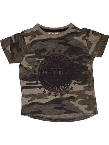 Short sleeve T-shirt boy PRIMARK brown 2 years summer #31616_1