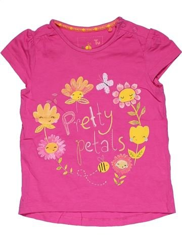 Short sleeve T-shirt girl TU pink 2 years summer #31634_1