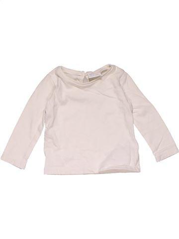 Long sleeve T-shirt girl F&F white 6 months winter #31654_1