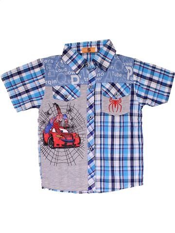Short sleeve shirt boy SUPERSFENG blue 18 months summer #31821_1