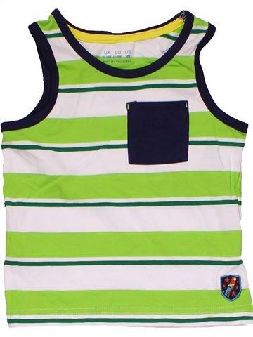 Sleeveless T-shirt boy F&F white 18 months summer #31848_1