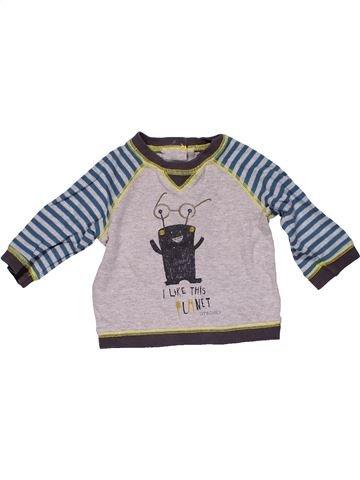 Long sleeve T-shirt boy MAMAS & PAPAS gray 3 months winter #32322_1