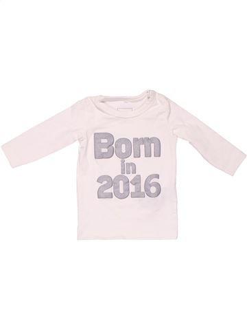 Long sleeve T-shirt unisex NAME IT white 1 month winter #3291_1