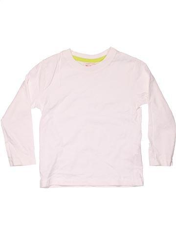 Long sleeve blouse unisex BLUEZOO white 4 years winter #4131_1
