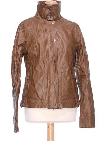 Synthetic Leather Jacket woman ZEBRA L winter #42535_1