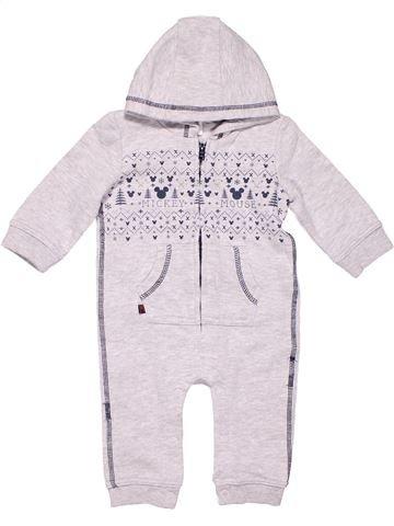 Long jumpsuit boy DISNEY BABY white 6 months winter #4348_1