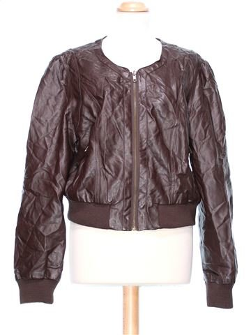 Synthetic Leather Jacket woman DUNNES UK 18 (XL) winter #47710_1