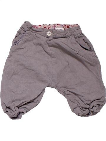 Trouser unisex MARKS & SPENCER gray 6 months winter #51_1