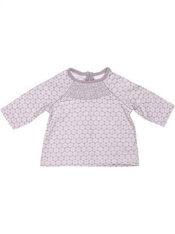 Long sleeve blouse girl F&F BABY white 1 month winter #5609_1