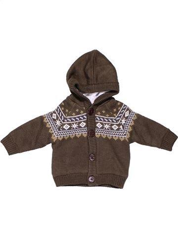 Jumper boy BABY CLUB brown 6 months winter #7384_1