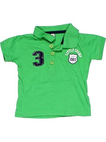 Short sleeve polo shirt boy NO BRAND green 3 months summer #7564_1