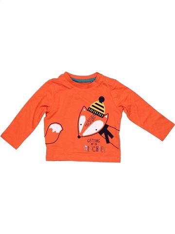 Long sleeve T-shirt boy TU orange 6 months winter #7882_1
