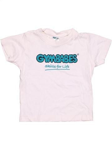 Short sleeve polo shirt unisex GYMBABES white 2 years summer #8016_1