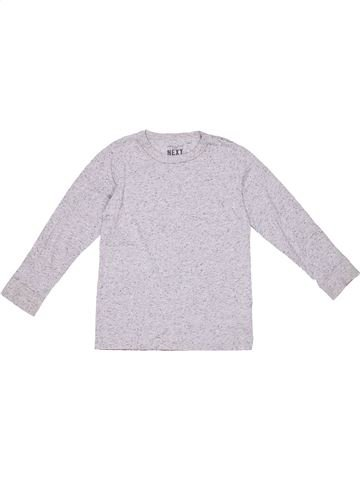 Long sleeve T-shirt boy NEXT white 6 years winter #885_1