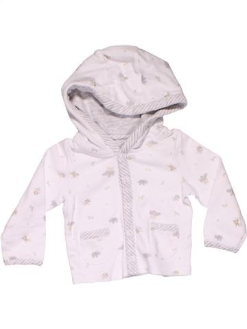 Sweatshirt girl THE LITTLE WHITE COMPANY white 6 months winter #9203_1