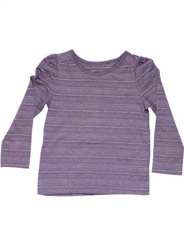 Long sleeve T-shirt girl CHEROKEE purple 3 years winter #9397_1