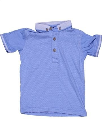 Short sleeve polo shirt boy GEORGE blue 3 years summer #9636_1